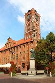 Town hall, Torun old town, Poland — Stock Photo