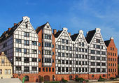 Traditional architecture in downtown Gdansk, Poland — Stock Photo