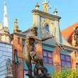 Fountain of the Neptune in Gdansk — Stock Photo