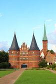 Holsten Gate, Lubeck, Germany — Stock Photo