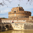 Sant'Angelo Bridge and Castle in Rome, Italy — Stock Photo