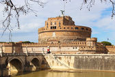 Sant'Angelo Bridge and Castle in Rome, Italy — Stock Photo