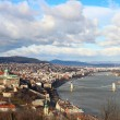 Beautiful view on Danube river and Budapest - Stock Photo