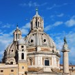 Santa Maria di Loreto, Rome, Italy - Stock Photo
