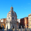 Santa Maria di Loreto church and Trajan column, Rome, Italy — Stock Photo