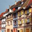 Beautiful old houses in downtown Colmar, France - Stock Photo