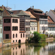 Beautiful old houses in downtown Strasbourg, France — Stock Photo