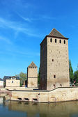 Ponts Couverts towers, Strasbourg, France — Stock Photo