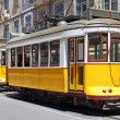Stock Photo: Yellow trams in Lisbon