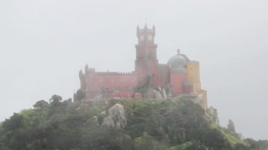 Pena national palace i sintra, portugal — Stockvideo