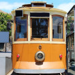 Old tram in Porto, Portugal — Stock Photo