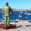 Statue of Dom Carlos in Cascais, Portugal — Stock Photo #34491907