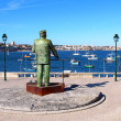 Statue of Dom Carlos in Cascais, Portugal — Stock Photo #37441619