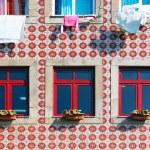 Tiled building facade in Lisbon — Stock Photo