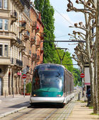 Tram in Strasbourg, France — Stock Photo