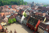 Munsterplatz and Freiburg old town, Germany — Stock Photo