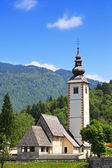 Church of St. John the Baptist near Bohinj Lake, Slovenia — Stock Photo