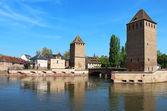 Ponts couverts torres, estrasburgo, frança — Foto Stock