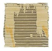 Papelão rasgado isolado — Fotografia Stock