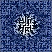 Labyrinth maze background — Stock Photo