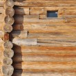 Wooden logs wall — Stock Photo