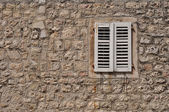 Closed shutters — Stock Photo