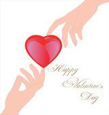 Happy Valentine's day greeting card. — Stockvector