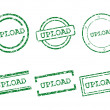 Stock Vector: Upload stamps