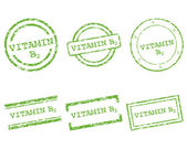 Vitamin B2 stamps — Stock Vector