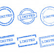 Limited stamps — Stock Vector
