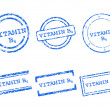Stock Vector: Vitamin B4 stamps