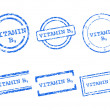 Vitamin B9 stamps — Stock Vector