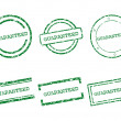 Guaranteed stamps — Stock Vector
