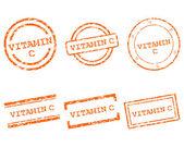 C vitamini pullar — Stok Vektör