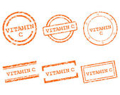 Vitamin C stamps — Stock Vector
