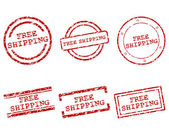 Free shipping stamps — Stock Vector