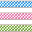 Bavarian ribbons — Stock Vector
