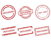 Unplugged stamps — Stock Vector