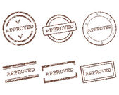 Approved stamps — Stock Vector