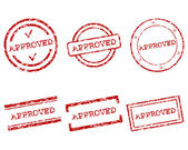 核准的邮票 — 图库矢量图片