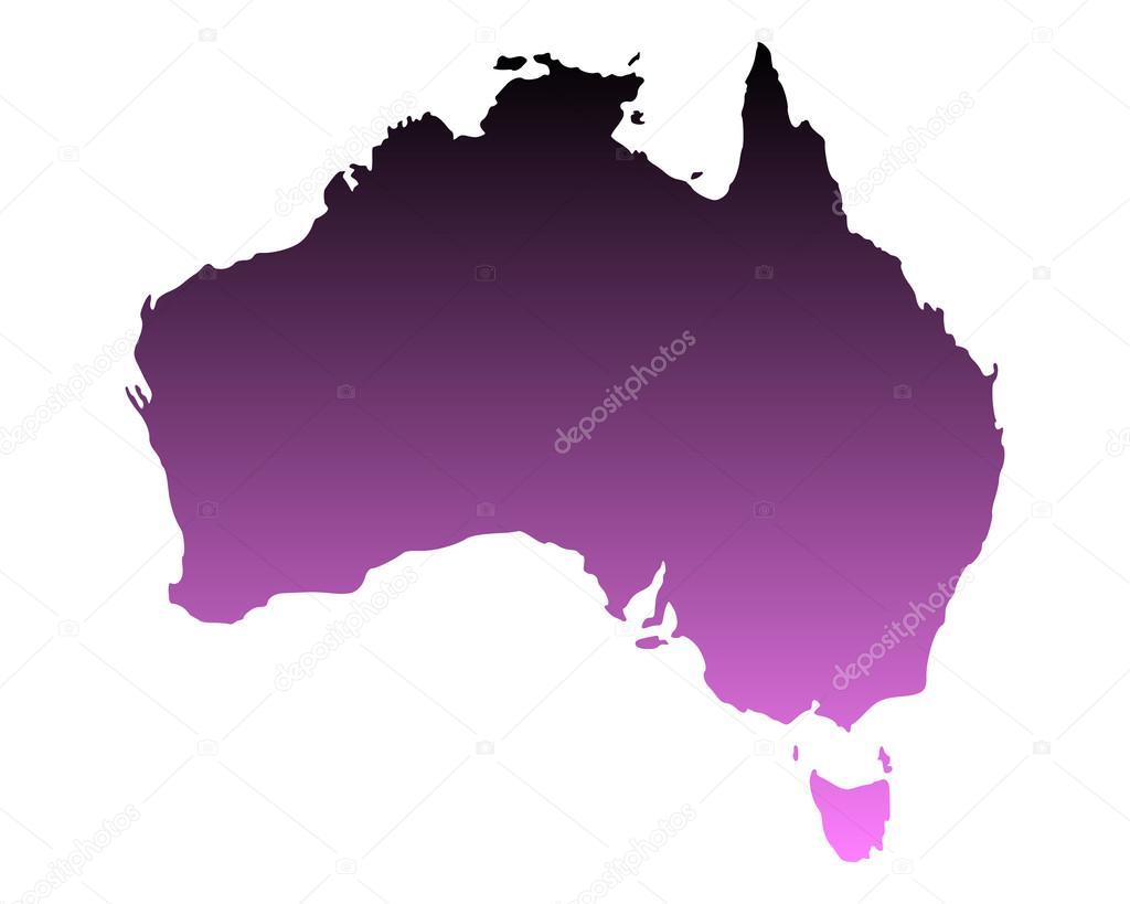 澳大利亚地图 — 矢量图片作者
