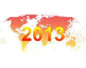 World map 2013 — Stock Vector