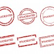 Stock Vector: Processed stamps