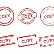 Stock Vector: Copy stamps
