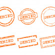 Stock Vector: Denied stamps