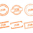 Stock Vector: Job stamps