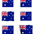 Australia flag set — Stock Vector