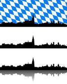 Silhouette of Regensburg, Bavaria — Stock Vector