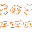 Stock Vector: False stamps