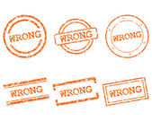 Wrong stamps — Stock Vector
